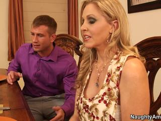 My Dad's Hot Girlfriend - Big titty Julia Ann gets cum on her face