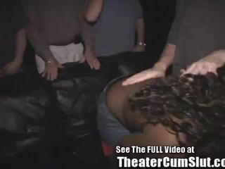 Ebony Party Slut Coated in Sperm!