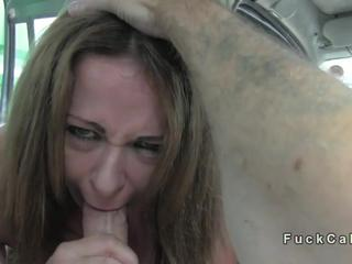 Huge tits milf banged in fake taxi