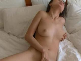 lovely asian chick rubbing the clit