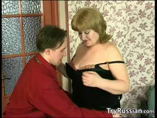 Playing With Her Russian Boobs