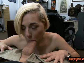 Tight blonde babe drilled by pawn dude