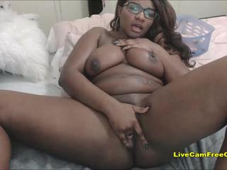 Big Black Ass Girl so Sweet BBW Teen with Glasses