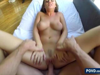 Blondie Alexis Adams gets spotted in the park and fucked in the couch