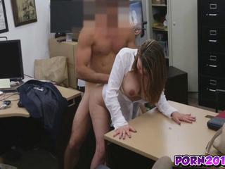 Janice Gets Drilled In Any Position By Huge Dick In Office