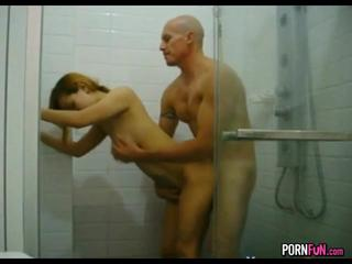 Interracial Sex In The Shower