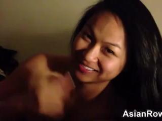 Asian Girlfriend Sucks Dick POV