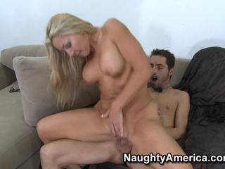 Meaty blonde cougar fucks and gets a huge facial