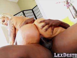 Busty and MILF Ryan gets hammered by Lexington Steeles big black cock