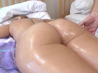 Big ass Nikki Stone takes an intense sack session