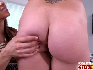 Natural sexy babes Kylie catches her step mom having sex