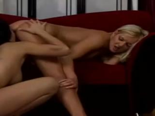 Two Hot Lesbians Devour One Another's Pussy Lips & Enjoy Playing With Dildo