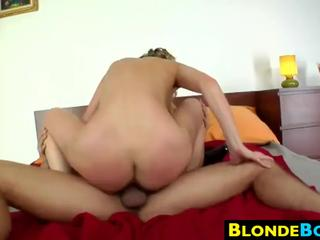 Blonde Whore Riding A Cock