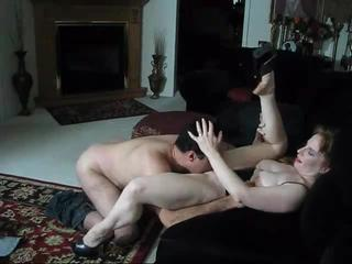 Cheating redheaded wife is a voluptuous sex goddess riding hard dick