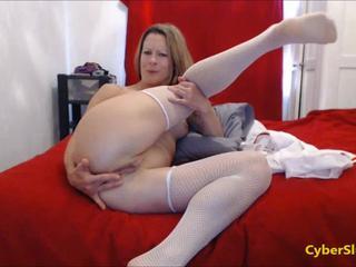 MILF Nurse Giving Treatment Over Webcam!