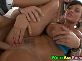 Huge ass and big boobs Milf Lisa Ann anal banged hard