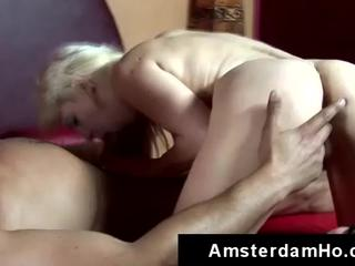 Horny foreigner pounds blonde skank in Amsterdam