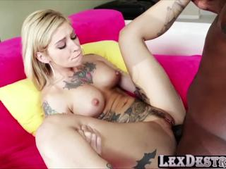 Beautiful tattoed Kleio Valentien auditions and gets fucked hard