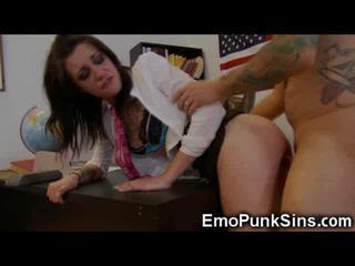 Emo Schoolgirl Deepthroat and Fuck!