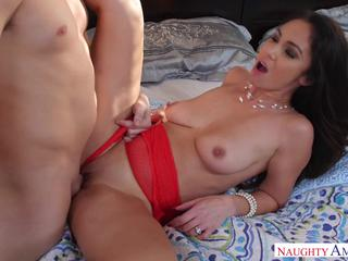 Divine housewife fucked and facialized