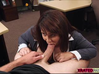 Hot and sexy Bitch MILF gets her pussy punished by shop owners big cock