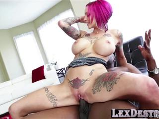 Redhead and busty Anna Bell Peaks gets fucked by Lexington Steele