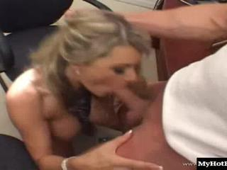 Vicky Vette and her girlfriend are secretaries at this office, where they both