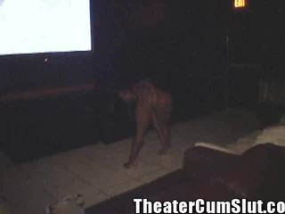Sex Crazed Ebony Freak Goes Buck Wild In A Seedy Tampa Porn Theater