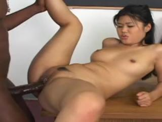 Dirty Asian Co-Ed Enjoys Black Dick & Having Sex