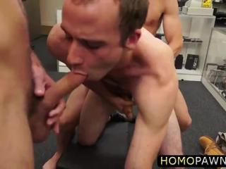 White petite fitness instructor takes a huge cock in the pawnshop