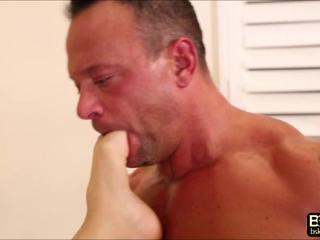 Sexy blonde babe AJ rocks Kurts big cock in an