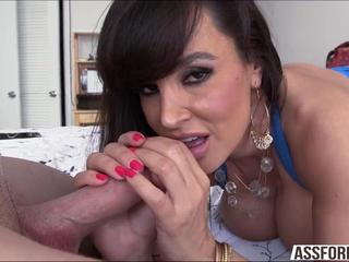 Famous milf Lisa performs doggystyle with her hunk guy