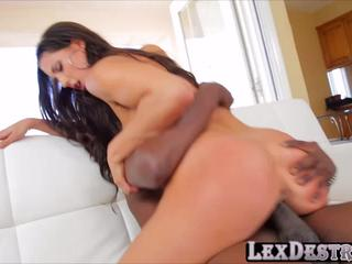 Brunette college chick Alexa Tomas auditions and gets fucked