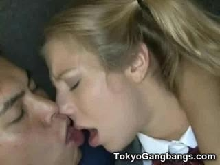 White Teen Fucked by Japanese Pervs!