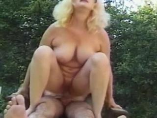 Busty Blonde Hottie Swallows & Fucks Throbbing Pole