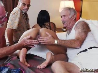 Old granny fingers her ass and real sex man Staycation with a Latin