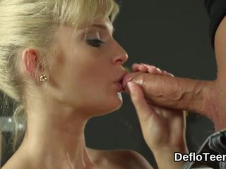 Blonde virgin sex angel slit banged doggy style