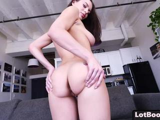 Lovely young busty brunette Lana Rhoades gets fucked