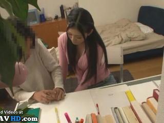 Japanese hot teacher helps nerd student - More at Elitejavhd.com