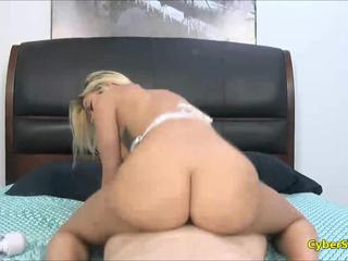 Busty Blonde Loves Doggy and Cum on Ass