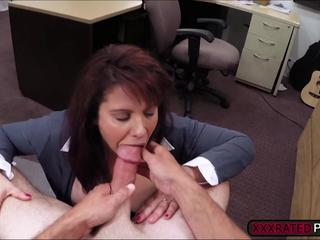 Milf needs cash and gets easily persuaded to expose tits and have sex