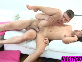 Teen Gina Valentino has her pussy treated and greased by dick