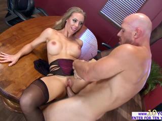 Hot Nicole fucks her employee for disturbing her masturbation session