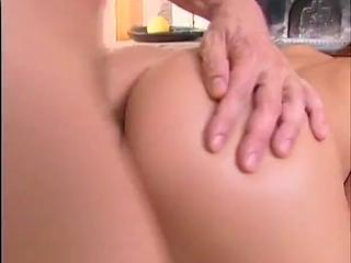 Dreamy Euro Babe Jams Rod In Vag & Ass