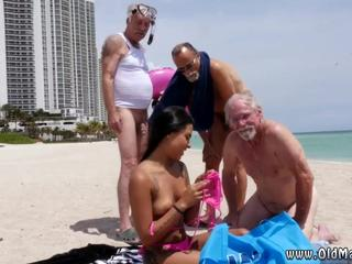 Old man licks young pussy and mom condom Staycation with a Latin