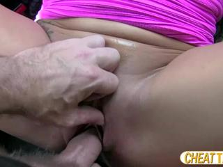 Candi flashes her big tits and she gets persuaded to have sex in taxi
