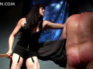 Bad mistress torturing sex slaves cock and ass