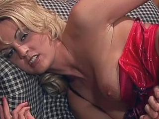Busty Blonde Chick Sucks Dick And Nails Cock