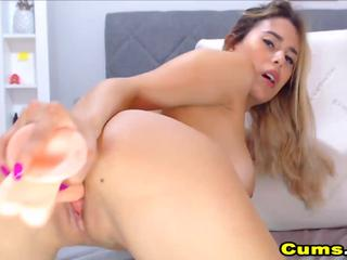 Sexy Babe Fucking Her Pussy With Red Dildo