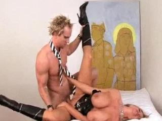 Huge Titted Babe Fucking A Punk Rock Cock
